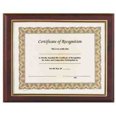 Easy Insert Certificate Walnut Plaque