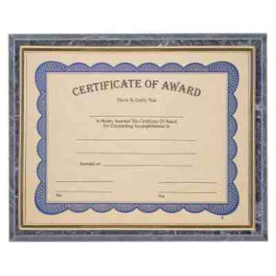 Black Marble Certificate Plaque