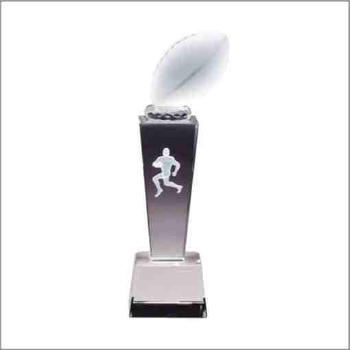 3-D Football Sport Crystal Award