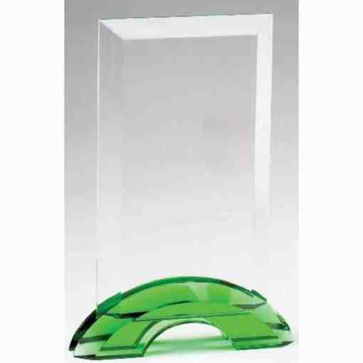 Green Double Arc Rectangular Glass Award