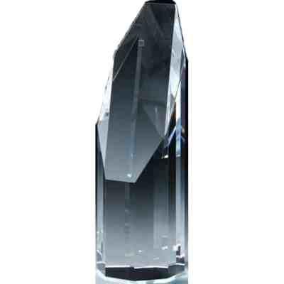 Slant Front Crystal Award