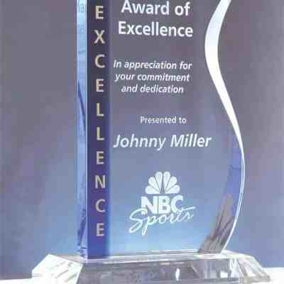 Blue Wave Crystal Award