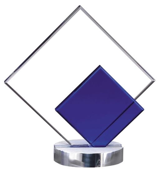 Cool Blue Diamond Crystal Award