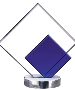 Cool Blue Diamond Crystal Award