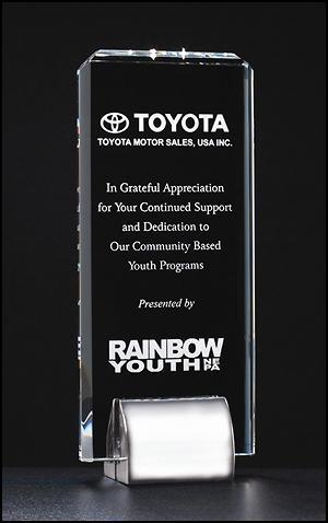 Crystal Award with Chrome Base
