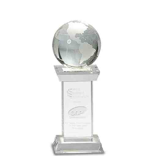 Crystal Globe Award on Pillar
