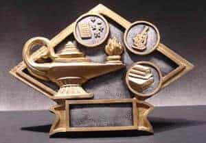 Diamond Lamp of Knowledge Trophy