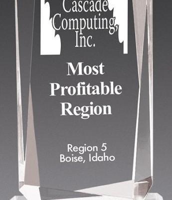 Faceted Rectangle Acrylic Award