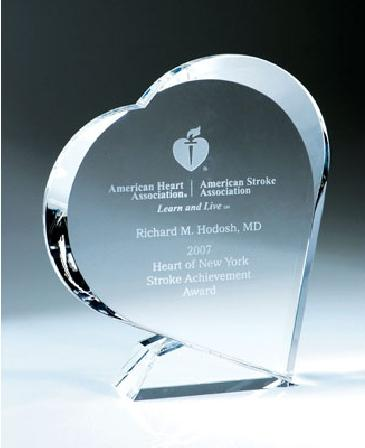 Giving Heart Crystal Award
