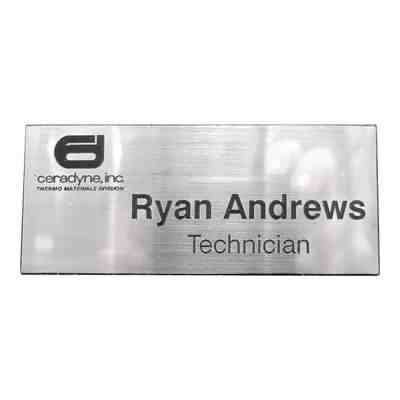 Name Badge with Logo
