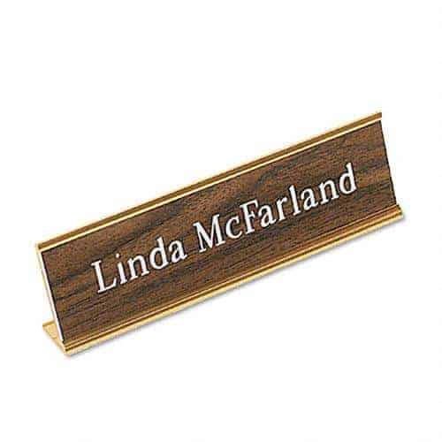 Name Plate with Base