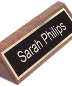 Personalized Walnut Name Plate