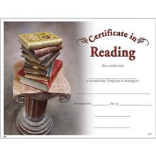 Certificate for Reading