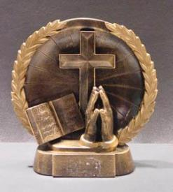 Religious 3-D Plate Trophy