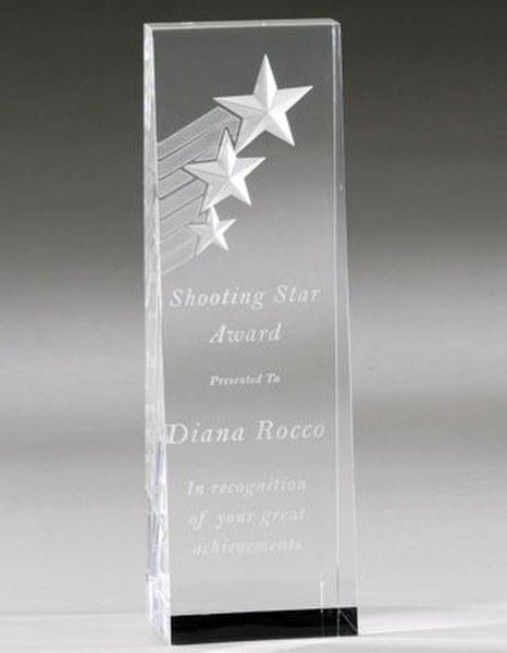 Shooting Stars Acrylic Award