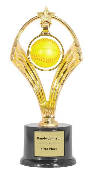 Swinging Softball Trophy