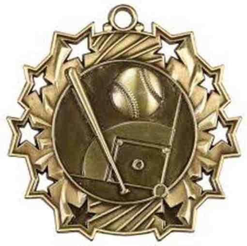 Ten Star Baseball Medal