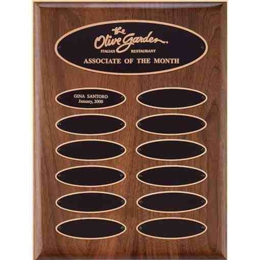 perpetual plaque with oval shaped plates