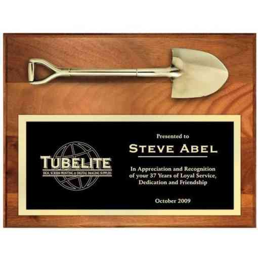 shovel plaque