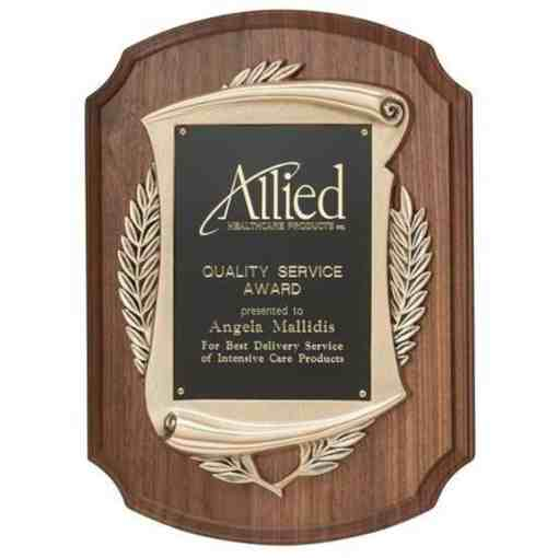 Walnut plaque