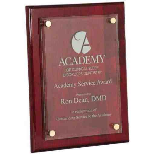 Acrylic Standoff Rosewood plaque