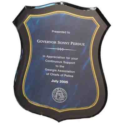 Badge Shaped Plaque