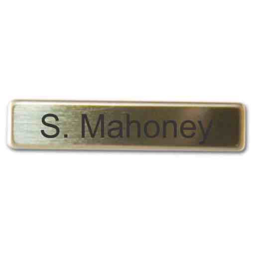 Bright Brass Military Style Name Badge