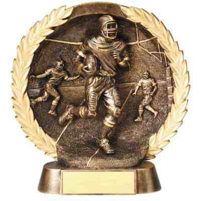 3-D Plate Football Trophy