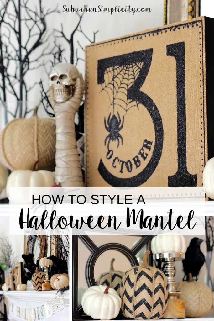 How to style a spooky good Halloween Mantel. These are simple Halloween Ideas you can totally do with what you have on hand.