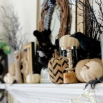 How to style a spooky good Halloween Mantel! Decorating your mantel for the fall season is easy and fun! Try using what you have around the house...and be creative!