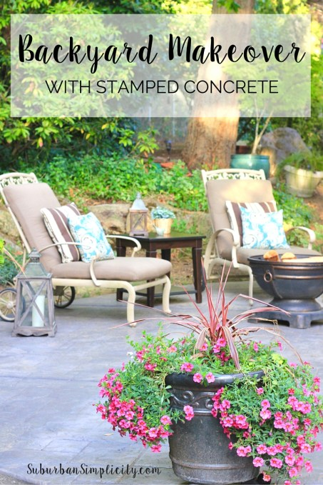 Backyard Makeover with Stamped Concrete