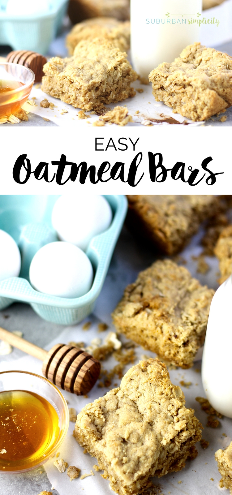Try this recipe for delicious and easy oatmeal bars your whole family will love! It works great as breakfast or a midday snack! Delicious! #oatmeal #easyrecipe