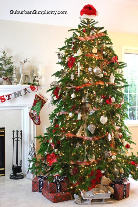 How to decorate an Elegant and Rustic Christmas tree-5