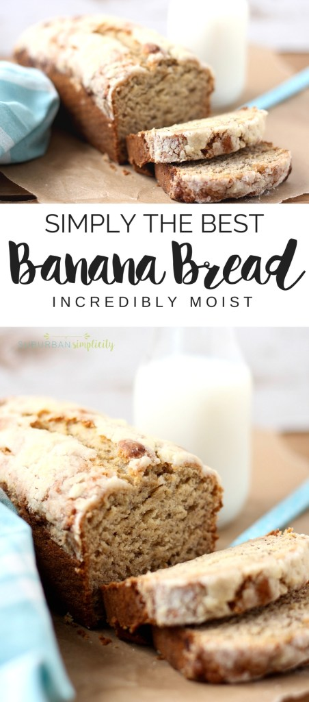 This is the bestbanana breadrecipe I've found. Moist and delicious every time! And it's infused with just the right amount of banana flavor. Homemade banana bread really is the best!