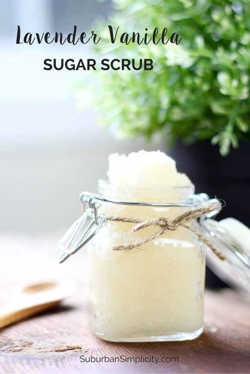 This Lavender Vanilla Sugar Scrub recipe is an easy DIY and makes a lovely gift. It's all natural and smells wonderful!