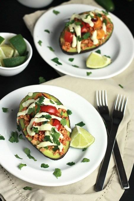 Low Carb Dinners - Vegan-Stuffed-Avocado1-4