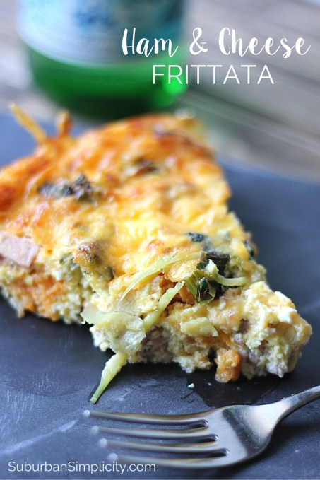 This frittata recipe is so easy, quick-cooking and inexpensive you'll want to make it all the time. Ham and cheese frittata is delicious and a great family-friendly meal for breakfast, lunch or dinner!
