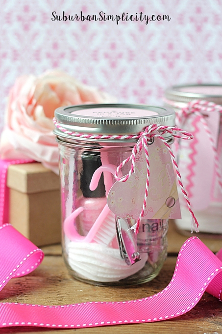 Pedicure in a Jar with tag