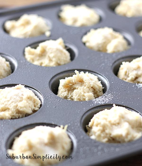 Strawberry Lemon Cookie Cups dough