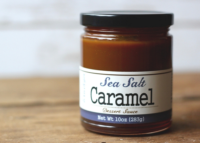 A jar of sea salt caramel.