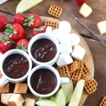This Chocolate Caramel Fondue Recipe is a decadent dessert the whole family will enjoy! It's easy to make anytime!