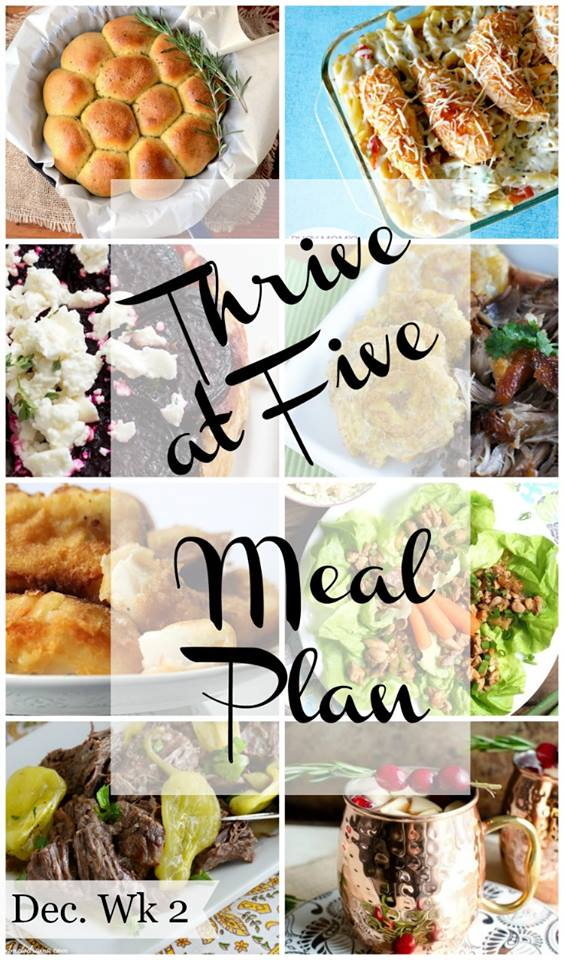 Thrive at Five Weekly Meal Plan #4 is your shortcut to fresh and delicious meal ideas your family will love!