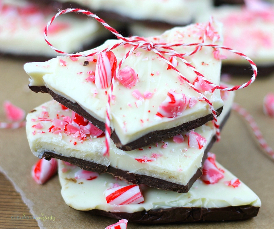 this peppermint bark is one of the quickest and most delicious holiday candy ideas chocolate