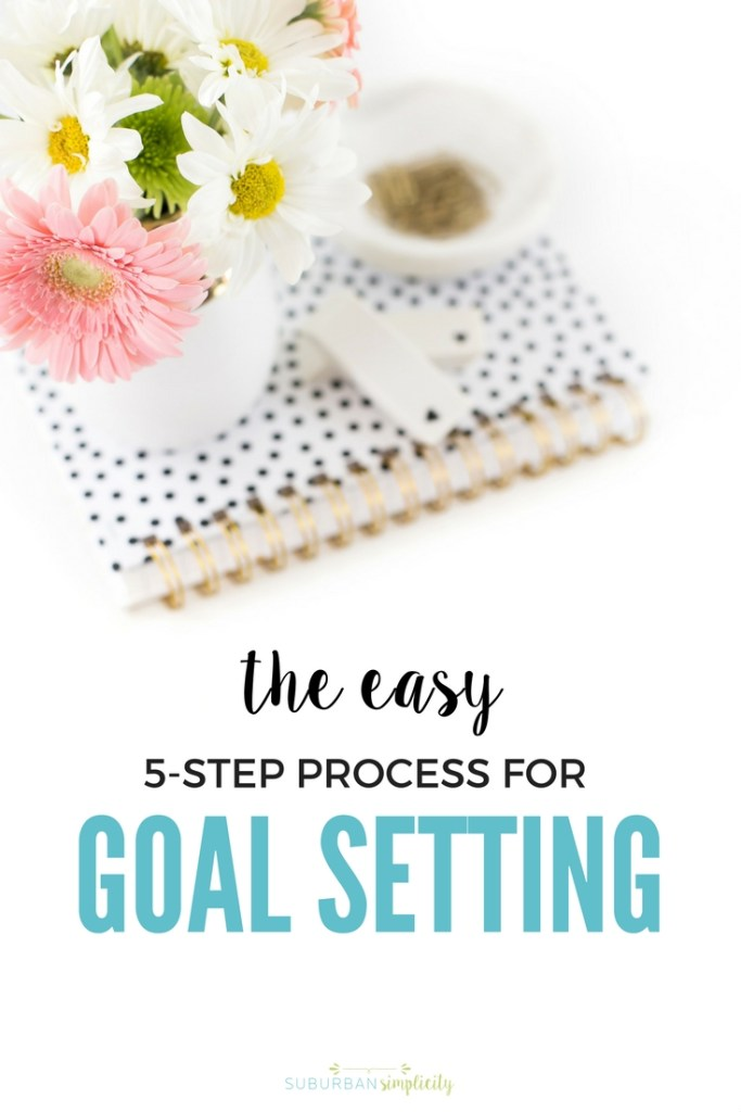 Make this year the best yet with this Easy 5 Step Process for Goal Setting. Learn the important tips for setting goals that actually work!