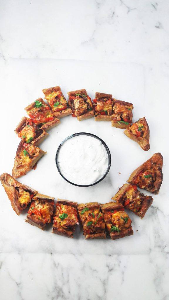 Turkish Pide Pizza With Chicken Cheddar And Red Peppers Homemade