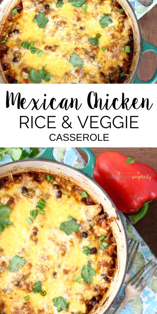 Serve up this flavorful one-pot Mexican Chicken, Rice and Veggie Casserole for dinner tonight! It's a healthy recipe idea that's delicious and clean-up is a breeze. @unclebensrice