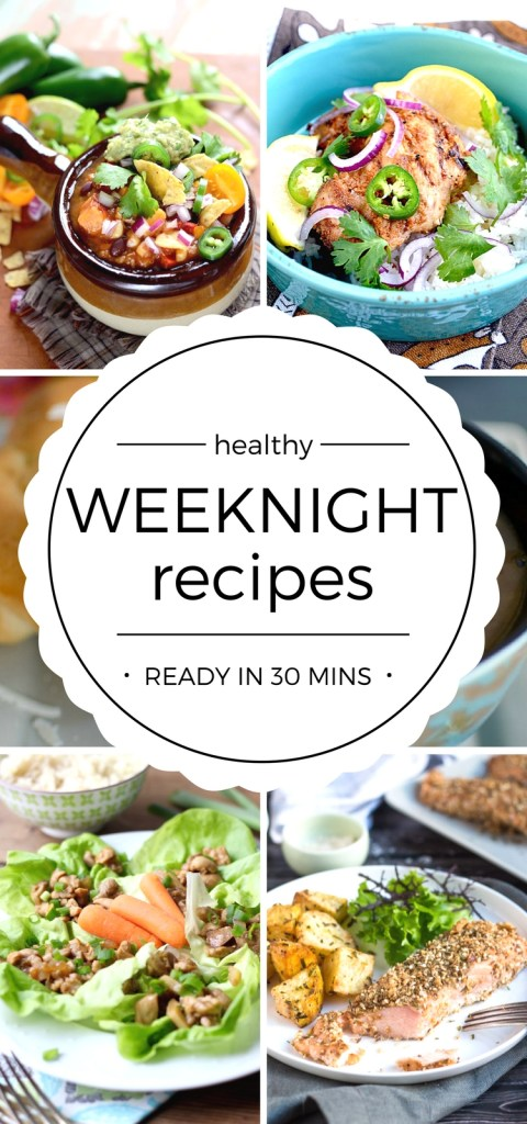 Healthy food recipes for easy weeknight dinners easy for Easy things to make for dinner for two
