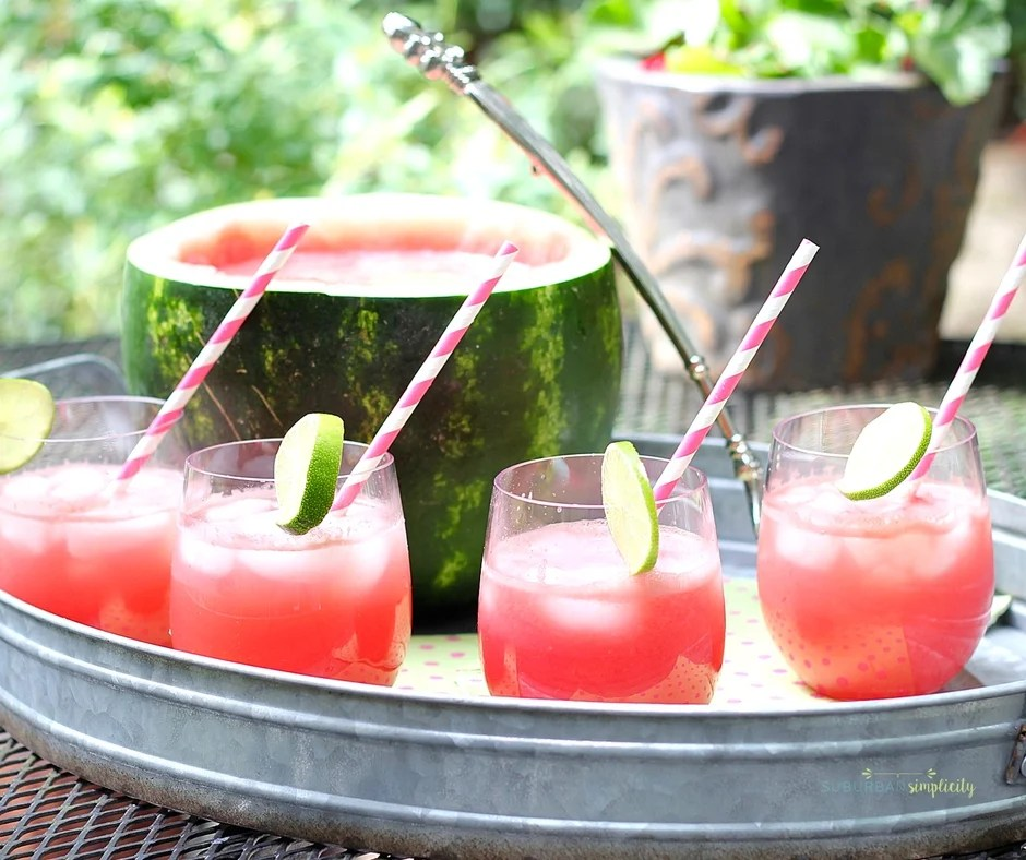 recipe: watermelon alcoholic punch bowl [16]