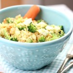 Delicious Curried Couscous with Broccoli and Feta