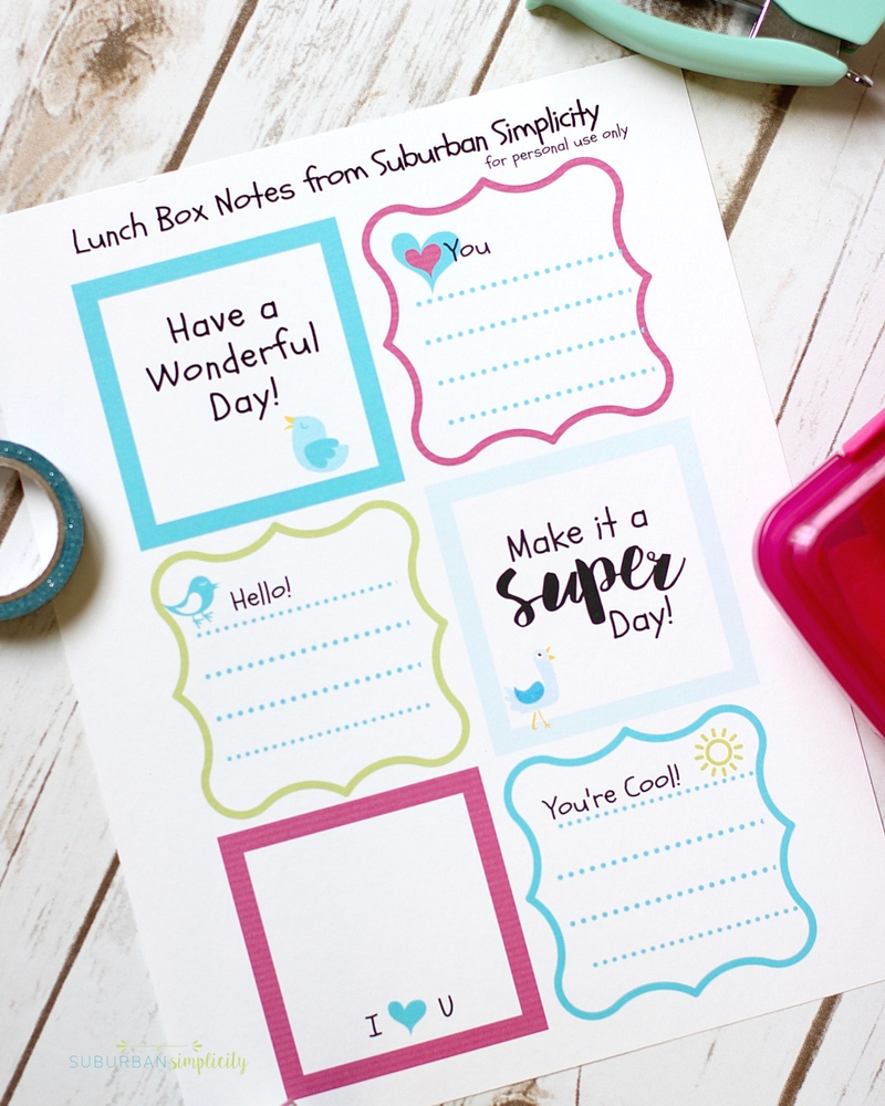 these printable lunchbox notes are sure to put a smile on your kids face for the